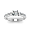 princess cut channel set diamond engagement ring in 14K white gold FDENS877PRRANGLE5 NL WG 30