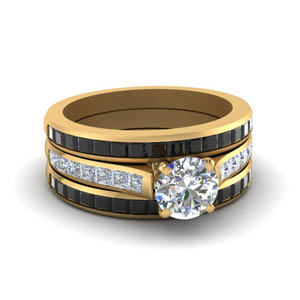 Round Diamond Ring With Channel Set Band