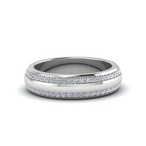 Low Dome Men Diamond Band