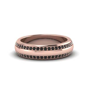 Round Pave Comfort Fit Mens Band