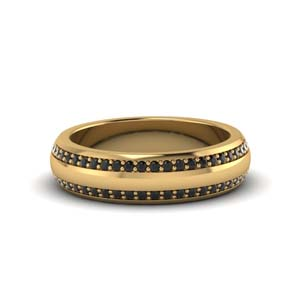 Black Diamond Mens Wedding Bands