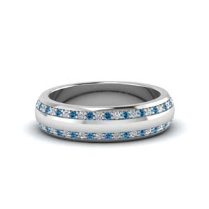 Blue Topaz Low Dome Band