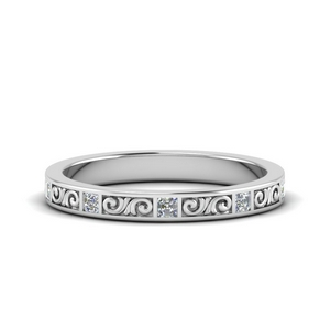 0.50 Ct. Filigree Engraved Diamond Band