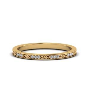 18K Yellow Gold Diamond Bands