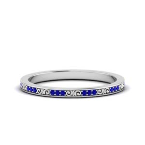 Sapphire Band With Filigree