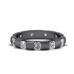 Asscher Bar Set Diamond Band
