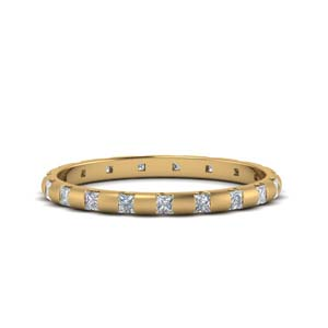Princess Cut Bar Eternity Band
