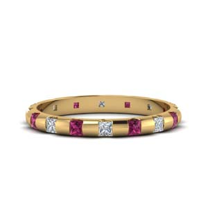 Accent Pink Sapphire Band