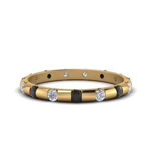 Black Diamond Bar Eternity Band
