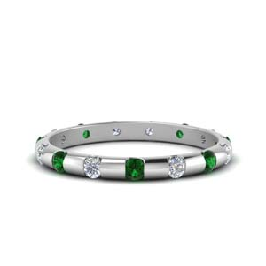 Bar Set Band With Emerald