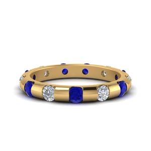Delicate Sapphire Band 1 Ctw.