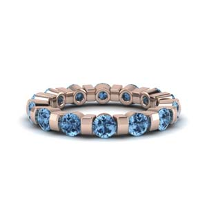Eternity Band With Topaz