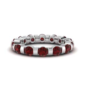 2 Ct. Classic Ruby Bar Eternity Ring
