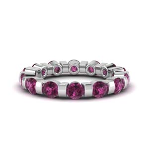 Classic Pink Sapphire Band