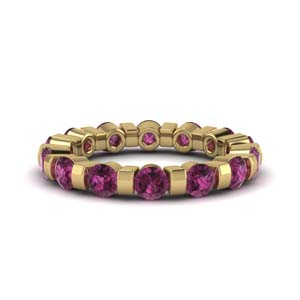 2 Ct. Pink Sapphire Bar Eternity Ring
