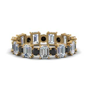Eternity Band With Black Diamond