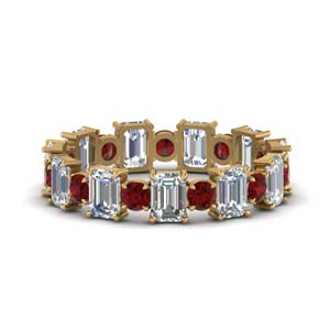 Beautiful Ruby Eternity Band
