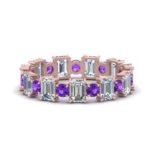 Purple Topaz 3.50 Ctw. Eternity Band
