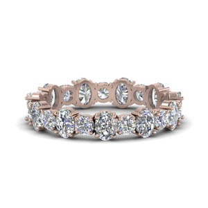 3.50 Ct. Oval  And Round Cut Eternity Band