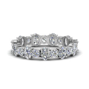 Oval Shaped & Round Eternity Band
