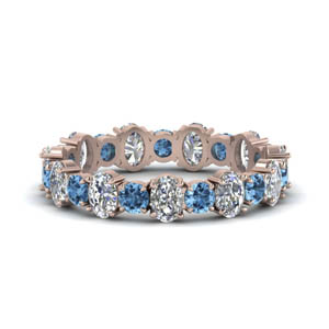 Alternate Pattern Blue Topaz Band