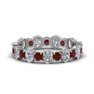 Eternity Diamond Band WIth Ruby
