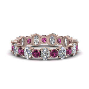 3.50-carat-oval-shaped-and-round-eternity-diamond-band-with-pink-sapphire-in-FDEWB123628OVGSADRPI-NL-RG