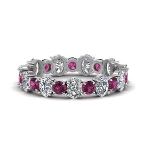 3.50-carat-oval-shaped-and-round-eternity-diamond-band-with-pink-sapphire-in-FDEWB123628OVGSADRPI-NL-WG