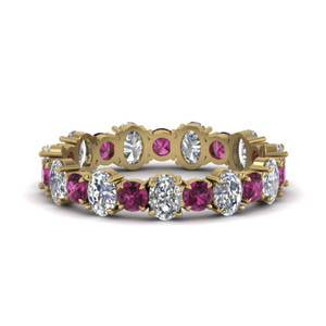 Pink Sapphire With Oval Shaped Band