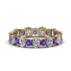 Round Shaped Purple Topaz Band