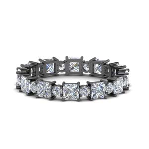 Art Deco 2.50 Ct. Diamond Black Gold Band