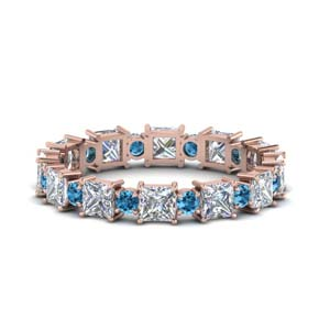 Classic Blue Topaz Eternity Band