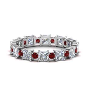 Art Deco Ruby Wedding Band