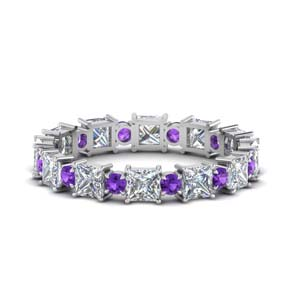 2.50 Carat Purple Topaz Eternity Band