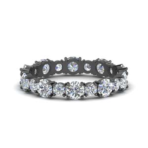 2 Carat Diamond Black Gold Band