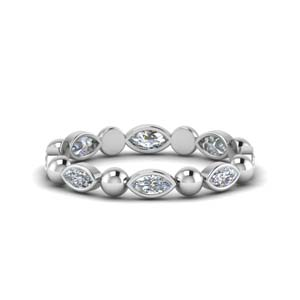 Bead Diamond Eternity Band