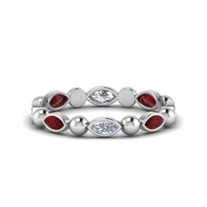 Ruby Marquise Wedding Band