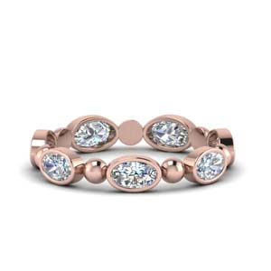 1.75 Carat Oval Shaped Bead Eternity Band