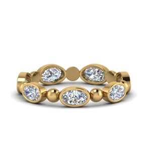 Diamond Bead Eternity Band