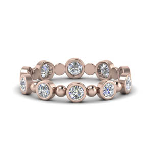 Bezel Diamond Bead Band