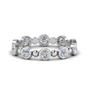 0.80 Ct. Bead Bezel Diamond Band
