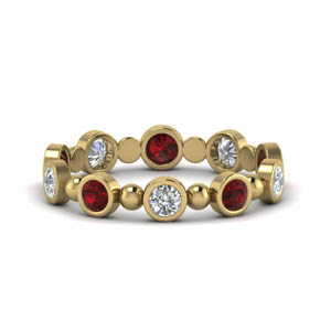 Bead Ruby 0.80 Ct. Band