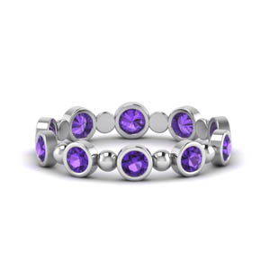 Bezel Set Purple Topaz Band