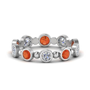 Orange Topaz Womens Eternity Band