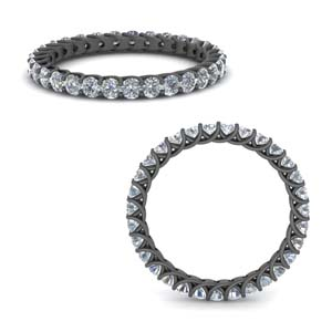 Eternity Diamond Black Gold Band