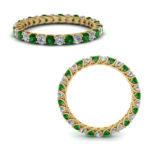 Trellis Emerald Eternity Band