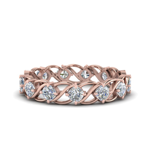 Kite Design Eternity Wedding Band