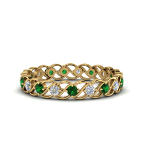 Emerald Anniversary Eternity Ring