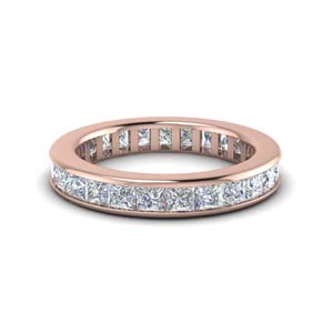 4 Ct. Channel Set Eternity Band For Her