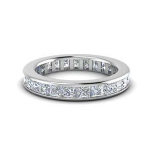 4 ct. channel set eternity diamond band for her in 950 Platinum FDEWB160B NL WG